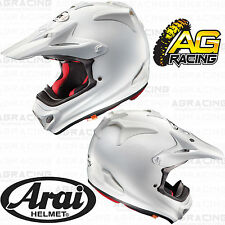 Arai 2014 MXV MX-V Helmet Plain White Adult Small SMLL SM Motocross Helmet New