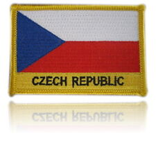 Czech Republic Embroidered Flag patch -Iron on or Sew