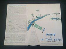 Tableau disque Paris et la Tour Eiffel 1964 TBE