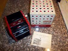 Vintage Metal Arrco Playing Card Shuffler #546 Hand Operated Original Box