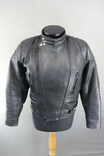 BLACK LEATHER CLASSIC SPORTEX A5 BIKER JACKET 40 INCH