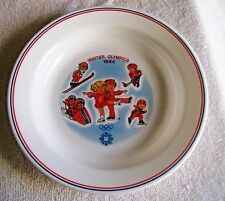 """Corelle Sarajevo 1984 Winter Olympics Campbell's Kids 8.5"""" Soup Bowl collectible"""