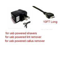 10Ft USB Charger SET For USB Razor  Remington HC-5950, HC-5350, MB-5350 MB-4550