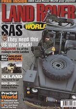 Land Rover World - January 2003