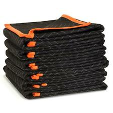 6-Pack  72 X 40 in. Heavy Duty Padded Moving Blankets Protecting Furniture Goods