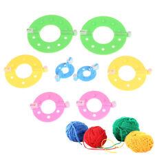 8x4 Size pompom maker fluff ball weaver needle knitting wool tool craft DIY RH