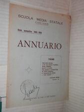 ANNUARIO SCUOLA MEDIA STATALE FISCIANO Anno Scolastico 1963 1964 Salerno libro