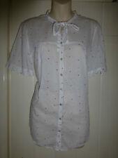 White Stuff Blanc Taille 12 Shirt à Manches Courtes Coloré Spots