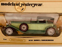 Matchbox Models Of Yesteryear Y4 1930 J Duesenberg  1978 Lesney