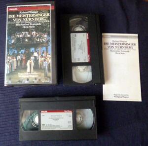 2xVHS Video Meistersinger Von Nürnberg Bayreuth WAGNER Weikl Prey Clark PHILIPS