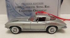 2008 Franklin Mint 1963 Corvette Sting Ray Silver Christmas Ornament LE 5000