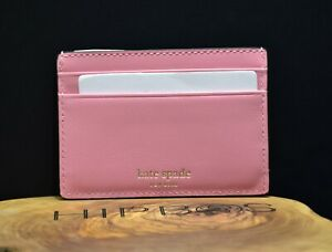 Kate Spade Womens Adventure Fund Leather Card Wallet Holder Case Pink
