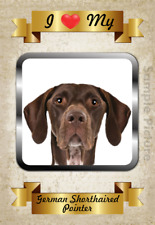 German Shorthaired Pointer Flexible Magnet I Love My 4x6 inch