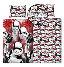 Boys Girls Episode VIII Star War Reversible Pillow Duvet Cover Kids Bedding Set