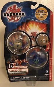 Bakugan BakuPearl Series B2 Starter 3 Pack Bigger Brawlers Mint Sealed Rare 2008
