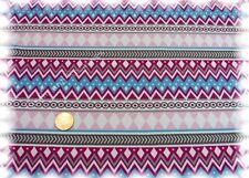 Arctic Pattern Stretch-Jersey weiß pink Hilco Shirtstoff 50 cm Kinderstoff