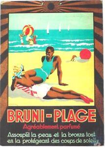 Original vintage poster BRUNI-PLAGE SUNTAN BEACH BATHERS 1934