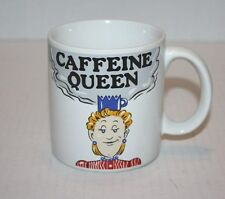 CAFFEINE QUEEN Coffee Cup / Mug - The Queen on the mug is styling a MUG CROWN!!