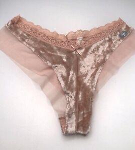 Set of 2 GapBody Gap Body Super Soft Lace Tanga Thong Underwear Panty Size M