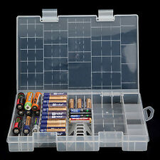 Multi-function AAA AA C D 9V Battery Holder Hard Plastic Case Storage Box Racks