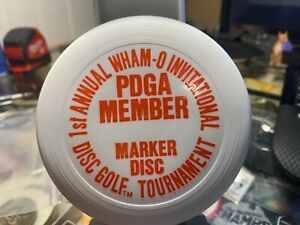"Wham-o Frisbee 4"" mini 1st annual PDGA 50,000 Golf tournament Marker disc"