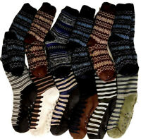 3x Adults Men's Home Bed Socks Thick Winter Non-slip Fluffy Lounge Home SOCKS