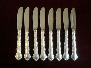 REED & BARTON~Sterling Silver~TARA~Pattern~ Set of 8 ~ Butter Kinves / Spreaders