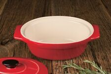 """Artisan Series Bakeware MONET 10"""" Covered Oval Casserole for Cooking and Baking"""