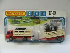 Matchbox Superfast TP19 Cattle Truck & Trailer - Red/Cream - Mint/Boxed