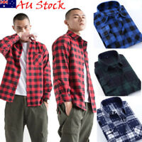 Mens or Boys Brushed Flannel Cotton Lumberjack Check/Plaid Casual Shirt CANIS