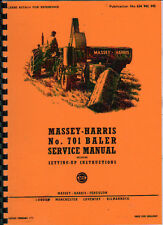 "Massey-Harris ""No.701"" Baler Service Manual Book"