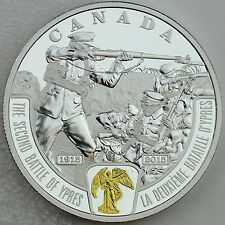 2015 $20 First World War Battlefront: The Second Battle of Ypres Pure Silver
