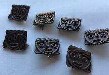 7 Vintage Mexican Handmade Copper & Brass Shank Buttons Crafts Artisan