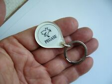 Ancien porte clé jeton caddie Pegase Cheval Ailé (Station Service Mobil?) TBE