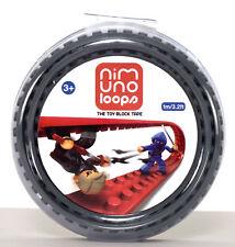 Nimuno Loops / LEGO® kompatibles Klebeband / 4 Noppen / 1m Rolle Dunkel Grau
