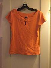 Rafaela WOMANS Size M Short Sleeve Orange Blouse Dressy Casual