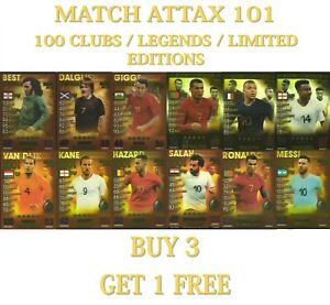 2019 Topps Match Attax 101 LEGENDS / 100 CLUB / LIMITED EDITION Cards