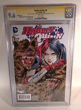 Harley Quinn 8 VARIANT CGC Signature Series PANOSIAN Palmotti Connor 9.6 Signed