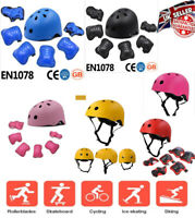 Kids Adjustable Sport Helmet and  Knee Pads 7pcs Set Cycling Scooter skateboard