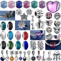 Fashion Fine Handmade New Bead Silver Charms Fit Genuine 925 Sterling Bracelets