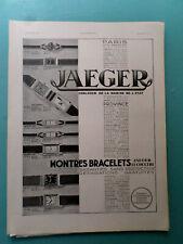 publicités ancienne MONTRE PENDULE  JAEGER-LECOULTRE     (AA1 )