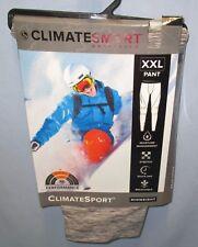 CLIMATESMART~XXL 44 46~Men's Grey Heather ClimateSport Baselayer Pants