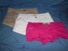 Jr Women's Hollister by Abercrombie  lot of 3 shorts size 0 pink beige white