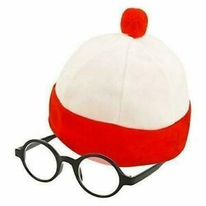 NEW Where's Wally Instant Kit Adults Fancy Dress Costume - Book Day Outfit