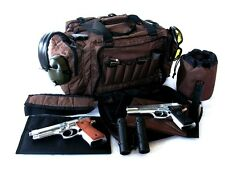 "NEW Brown 20"" NATO Tactical ® Gun Pistol Range shoot hunt 1000D molle Duffle bag"