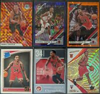 Lot of (6) Wendell Carter Jr, Including Chronicles RC, Mosaic/Optic parallels