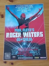 ROGER WATERS - SIGNED AUTOGRAPHED 2018 Australia Tour Poster - Laminated