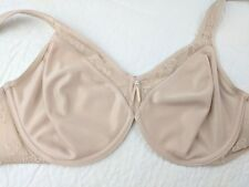 Wacoal 36D Sleek and Subtle Bra Beige Wired Embroidered Unlined #857138 $62