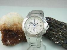 Seiko chronograph alarma zafiro de vidrio de acero inoxidable reloj Hombre