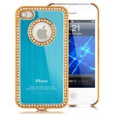 Klemmhülle Schutzhülle Cover iPhone 4 80er Strass iPhone 4 4S Light Blue